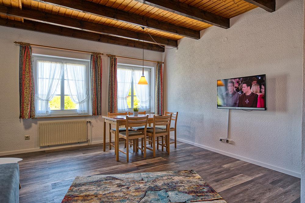 Haus Nordstern Wangerooge - Wohnzimmer mit TV